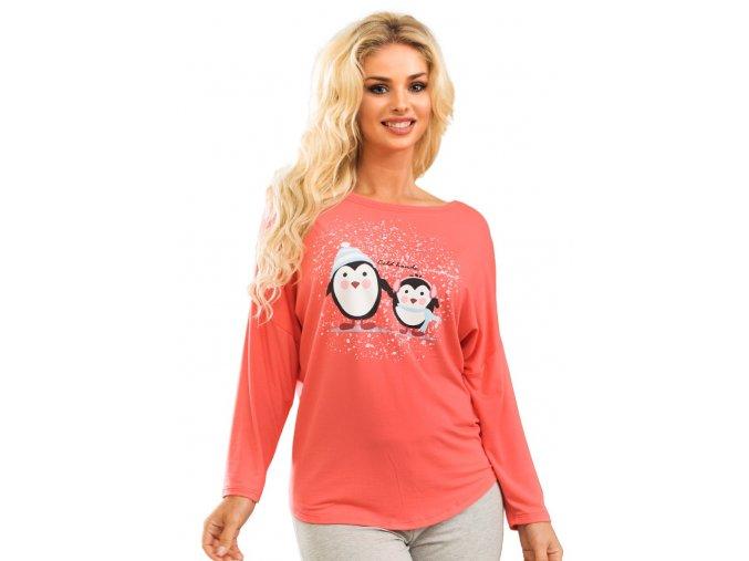 Dámske tričko 56 / 2-12 / A30 s obrázkom dvoch tučniakov Fabio