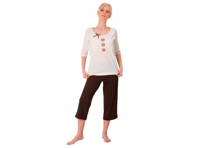 Dámske pyžamo Hania s capri nohavicami M-Max