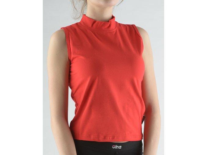 Tričko bez rukávov so stojačikom jednofarebné 98016P