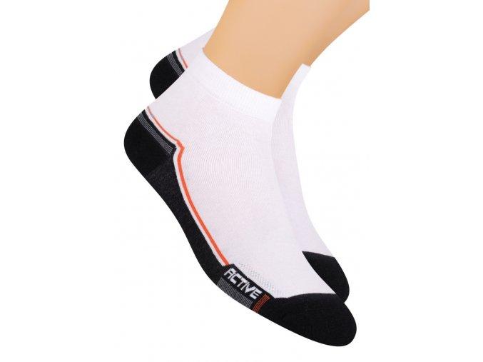 Chlapčenské členkové ponožky športové s nápisom Active 054/121 STEVEN
