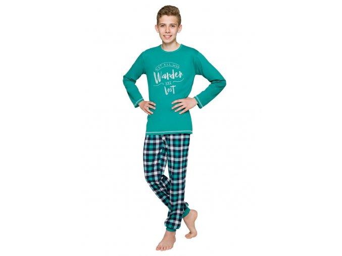 Chlapčenské pyžamo Milosz so vzorom kocky Taro