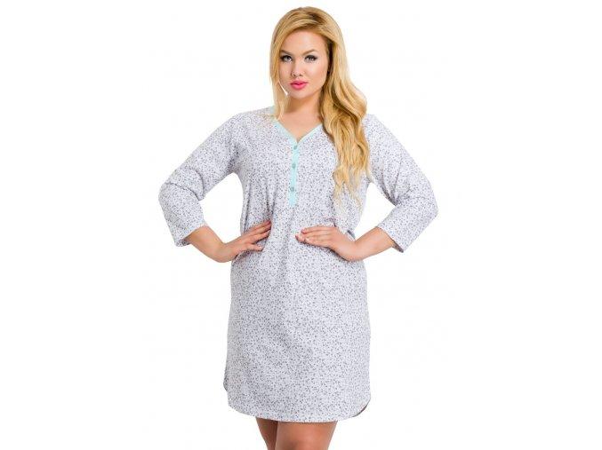 Dámska košeľa Roxa nadmernej veľkosti s kvetinovým vzorom Taro