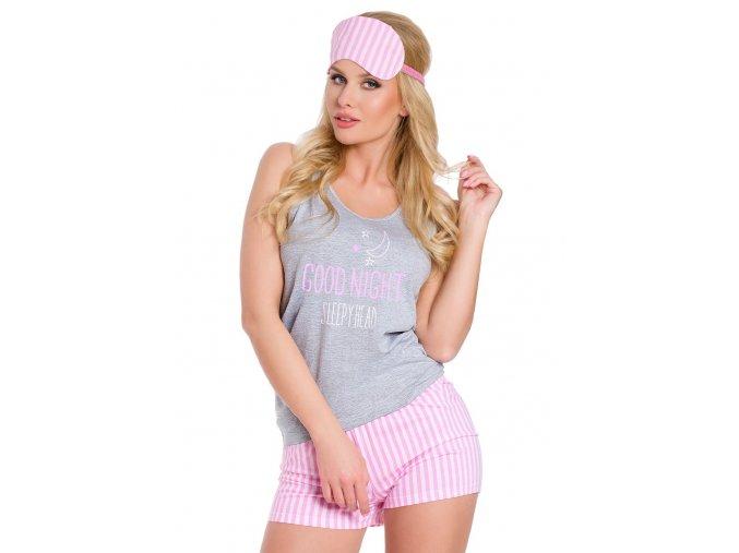 Dámske pyžamo Marina s kraťasy s nápisom Good night Taro