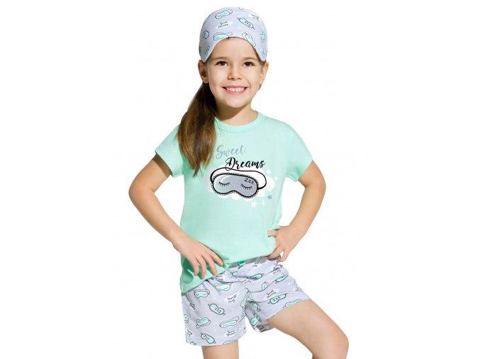 Dievčenské pyžamo Hania s kraťasy a nápisom Sleep well Taro