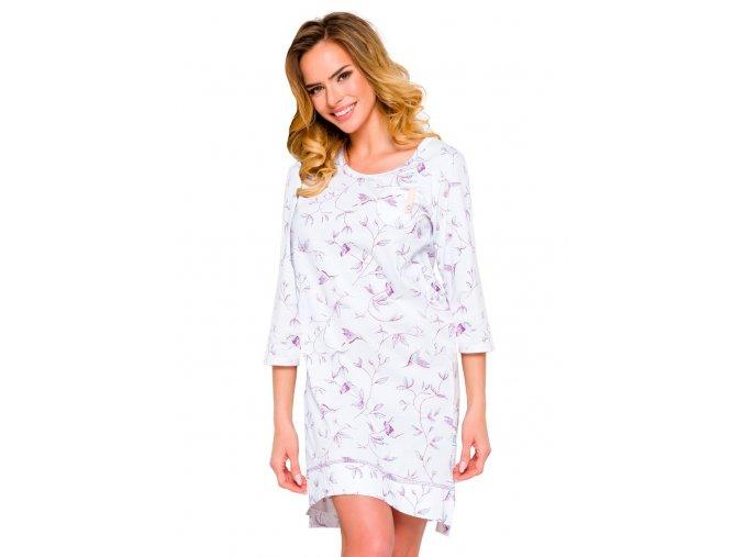 Dámska nočná košeľa Mela so vzorom listov Taro