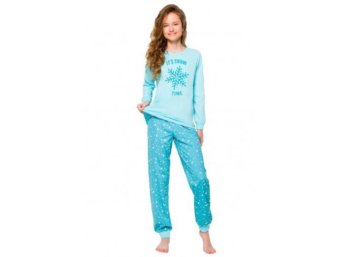 Dievčenské pyžamo Nora s nápisom It 'snow time Taro