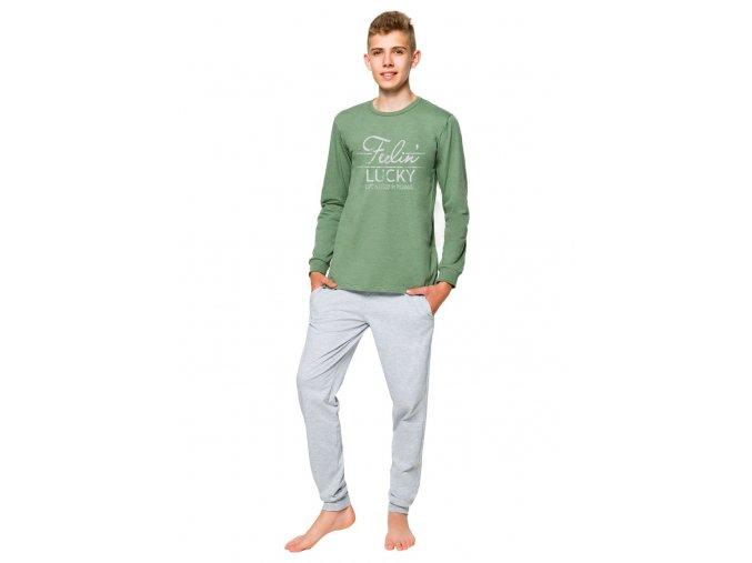 Chlapčenské pyžamo Kamil s nápisom Feelin Lucky Taro