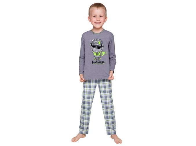 Chlapčenské pyžamo Franek s nápisom I can not hear you Taro