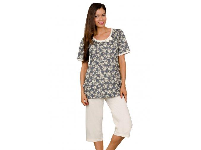 Dámske pyžamo Mauela so vzorom kvetov Taro