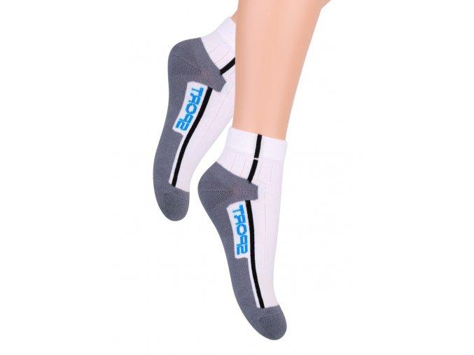 Chlapčenské členkové ponožky s nápisom Sport 004/4 Steven