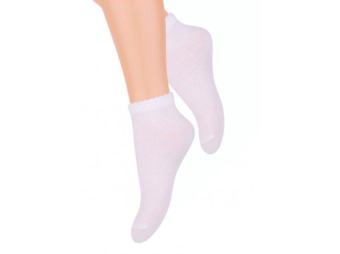 Dievčenské členkové ponožky jednofarebné