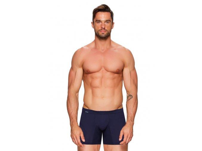 Pánske jednofarebné boxerky s dlhšou nohavičkou Amante push-up Fabio