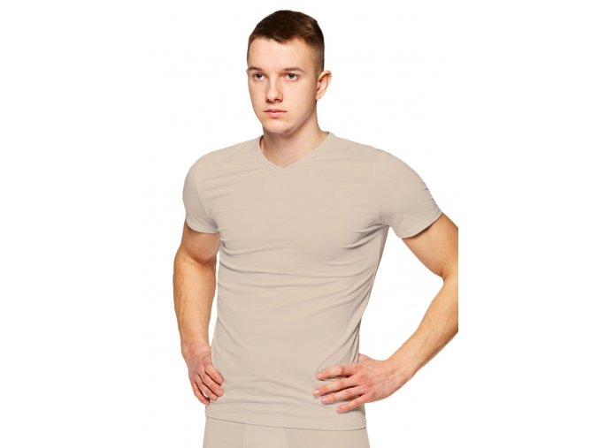 Pánske jednofarebné tričko s krátkym rukávom 218 Fabio