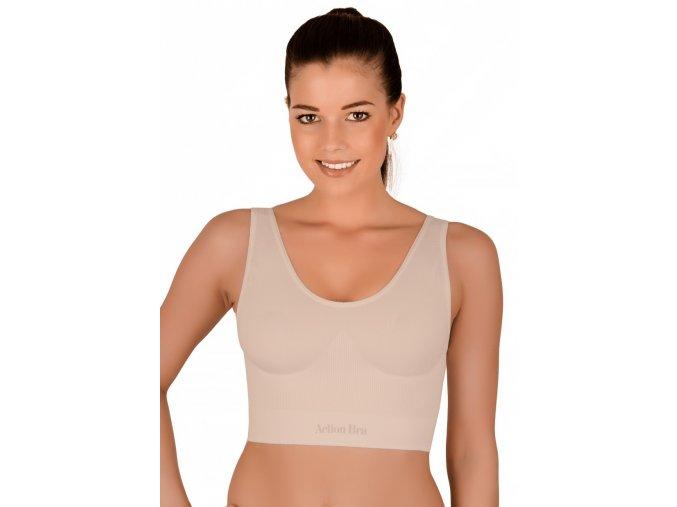 Dámsky bezšvový top tvarujúci na široké ramienka 06-10 Hanna Style