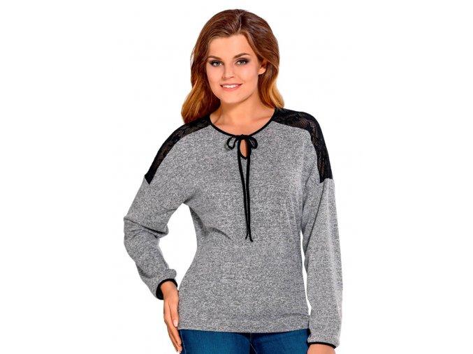 Dámsky sveter Nora s jemnou čipkou Babell