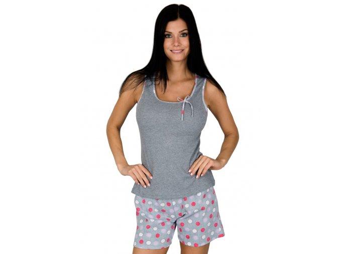 Dámske pyžamo so vzorom bodiek 881 Regina
