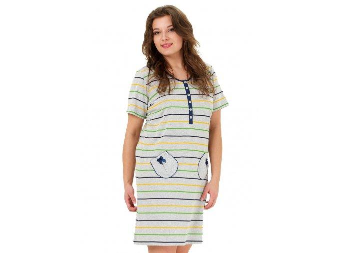 Dámska nočná košeľa Liliana so vzorom pruhu M-Max