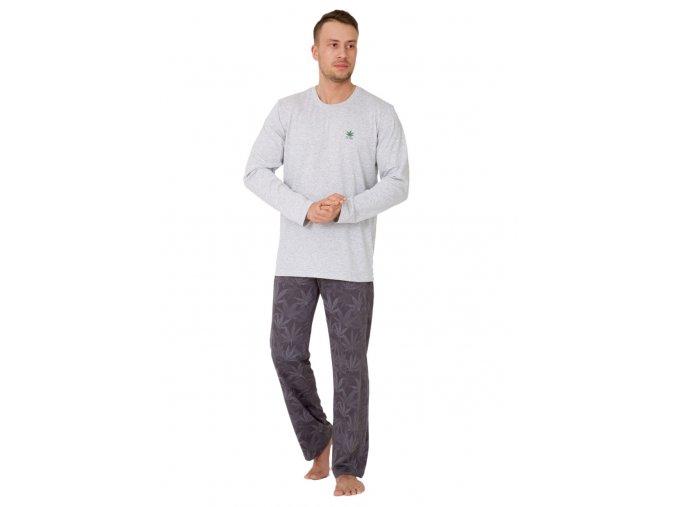 Pánske pyžamo Dawid s nápisom Fly high M-Max