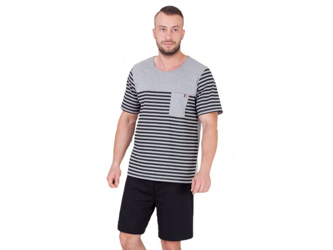 Pánske pyžamo Alojzy so vzorom prúžku M-Max