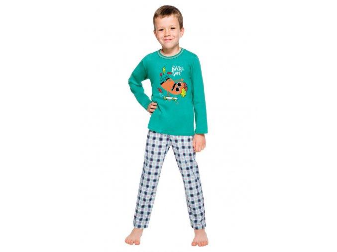 Chlapčenské pyžamo Leo sa vzorom kocky Taro