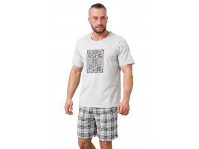 Pánske pyžamo Conan sa vzorovanými kraťasy M-Max