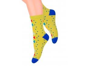 Dievčenské klasické ponožky so vzorom bodiek 014/128 Steven