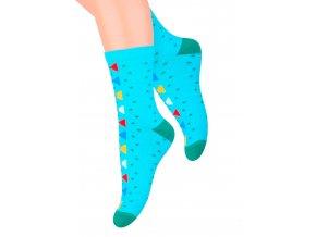 Dievčenské klasické ponožky so vzorom bodiek 014/129 Steven