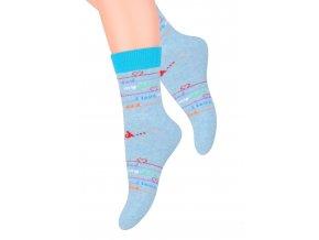 Dievčenské klasické ponožky s nápisom I love 014/149 Steven