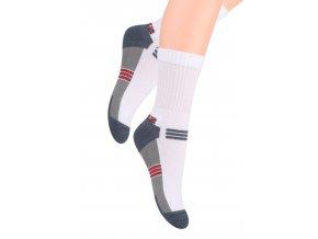 Chlapčenské klasické ponožky polofrofé s nápisom Sport 020/30 STEVEN