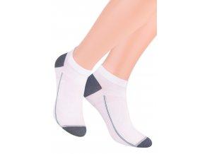 Chlapčenské členkové ponožky so vzorom drobného pruhu 101/1 STEVEN