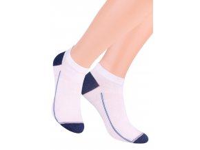 Chlapčenské členkové ponožky so vzorom drobného pruhu 101/2 STEVEN