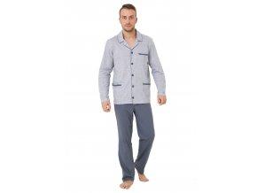 Pánske pyžamo Ambrozy so vzorom melíru M-Max