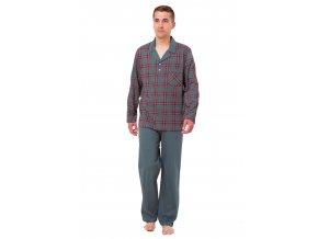 Pánske pyžamo Igor so vzorom kocky M-Max