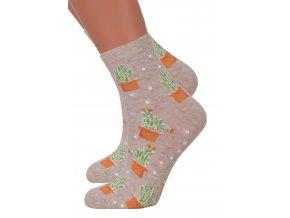 Dievčenské klasické ponožky so vzorom 014/344 STEVEN