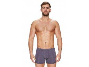 Pánske boxerky s dlhšou nohavičkou a pozdĺžnym prúžkom vzor 88 Fabio