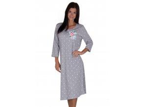 Dámska nočná košeľa 380 bodkovaný Regina