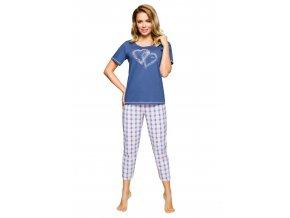 Dámske pyžamo s obrázkom srdca 908 Regina