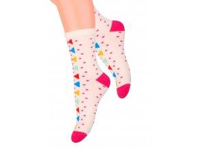 Dievčenské klasické ponožky so vzorom bodiek 014/13 Steven