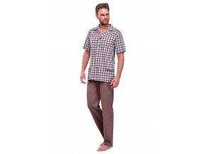 Pánske pyžamo Gracjan so vzorom kocky Taro