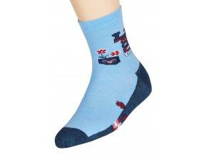 Dievčenské klasické ponožky s nápisom Jeans 014/6 Steven