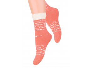 Dievčenské klasické ponožky s nápisom I love 014/18 Steven