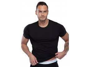 Pánske jednofarebné modálové tričko s krátkym rukávom 01 / 9-82 / 1 Fabio