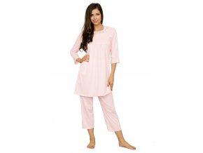 Dámske krajkové pyžamo s capri nohavicami 61 / 7-03 Fabio
