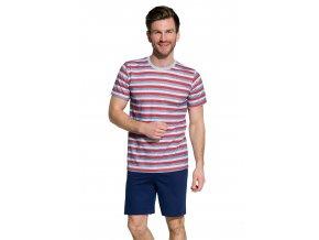 Pánske pyžamo Max so vzorom farebného pruhu Taro