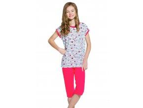 Dievčenské pyžamo Amelia so vzorom jemného prúžku Taro