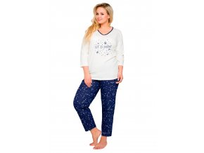 Dámske pyžamo Lena nadmerné veľkosti s nápisom Let it snow Taro
