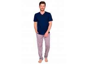 Pánske pyžamo Adam so vzorom kocky Taro