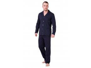Pánske pyžamo Roger sa vzorom kocky M-Max