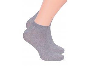 Chlapčenské členkové ponožky jednofarebné 045/100 STEVEN