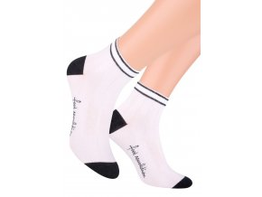 Chlapčenské členkové ponožky športové s nápisom na chodidle 054/127 STEVEN